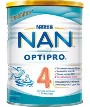 Смесь Nestle NAN 4 OPTIPRO молочная 400г