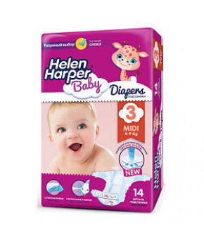 "Подгузники ""Helen Harper"" Baby 3 (4-9кг) 14шт"