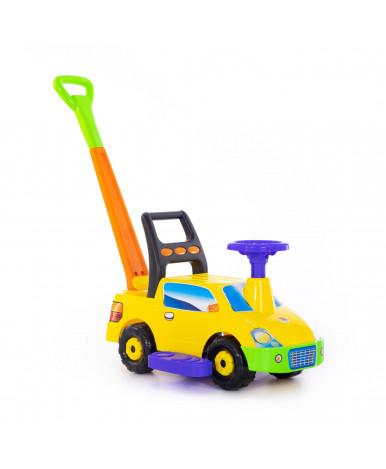 Автомобиль-каталка Полесье Пикап с ручкой №4, жёлтый