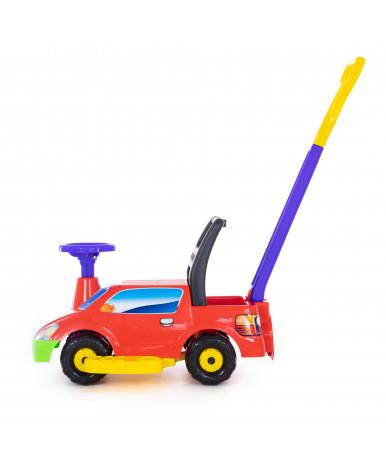 Автомобиль-каталка Полесье Пикап с ручкой №4, красный