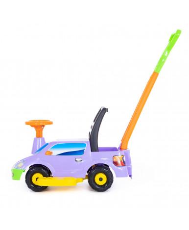 Автомобиль-каталка Polesie Пикап, с ручкой - №4, сиреневый
