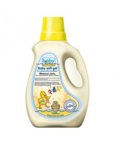 Средство жидкое Baby line мягкий для стирки детских вещей и пеленок, гель. 1,5л