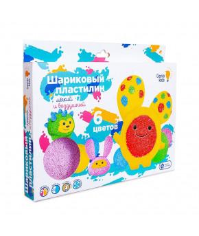 Набор для лепки Genio Kids Шариковый пластилин 6 цветов