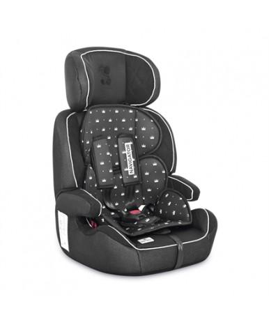 Автокресло Lorelli Navigator Black Crowns 2021 (9-36кг)