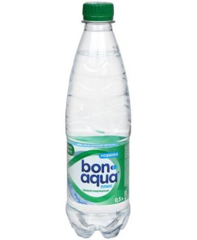 """Вода """"BonAqua"""" плюс среднегазированная, 0,5л"""