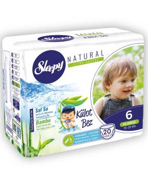 Подгузники-трусики Sleepy Natural 6 (15-25кг) 20шт