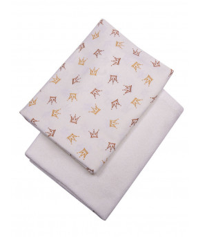 Пеленка Багира для купания махровая белоснежная 80х110 см