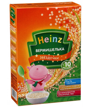Макароны Heinz вермишель звездочки 340г.