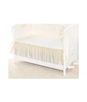 Подматрасник Plitex декоративный для детской кроватки, молочный