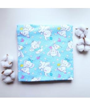 Пеленка Sofi Голубые слоники фланель 95х100см