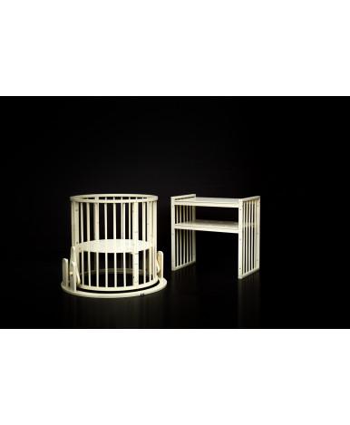 Кровать трансформер 7в1 Bambini М 14, колесо, слоновая кость