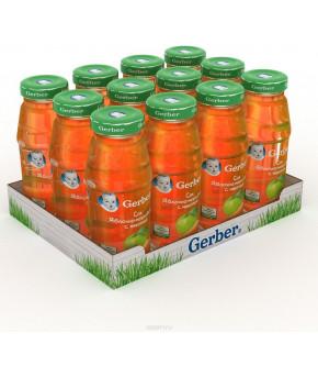 """Сок """"Gerber"""" яблочно-морковный с мякотью, 175мл"""
