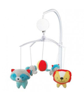 Каруселька BabyMix Джунгли с плюшевыми игрушками