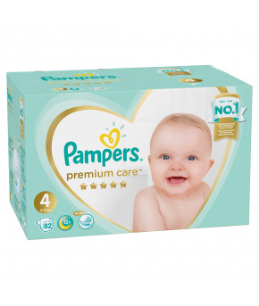 Подгузники Pampers Premium Care 4 (9-14кг) 82шт