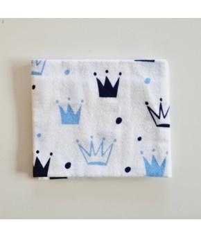 Пеленка Sofi Голубые короны фланель 95х100см