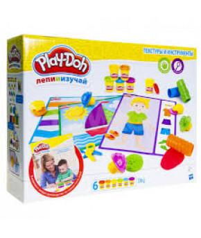 Play-Doh Игровой набор ТЕКСТУРЫ И ИНСТРУМЕНТЫ