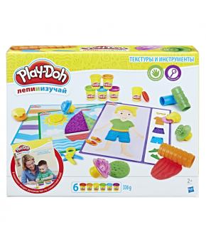 Набор для лепки Play-Doh Текстуры и инструменты