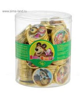 Монеты шоколадные Маша и медведь