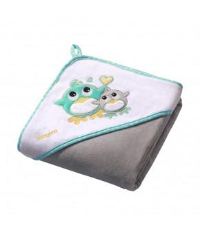 Полотенце BabyLine с капюшоном, зеленый 76х76см