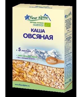 Каша Fleur Alpine Organic овсяная безмолочная 175г