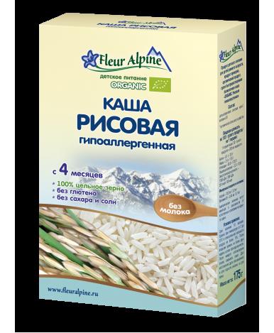 Каша Fleur Alpine Organic рисовая безмолочная 175г