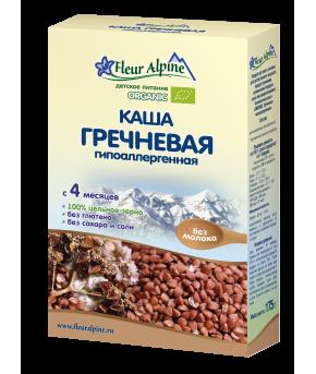 Каша Fleur Alpine Organic гречневая безмолочная 175г