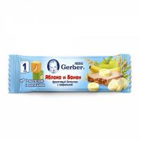 Батончик Gerber фруктовый с яблоком и бананом 25г
