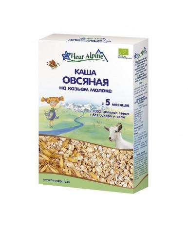 Каша Fleur Alpine Organic овсяная на козьем молоке 200г