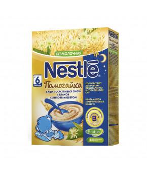 "Каша ""Nestle"" помогайка 5 злаков с липовым цветом безмолочная, 200гр"
