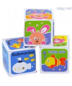 Игрушка для ванны Baby mix пластиковая Кубики
