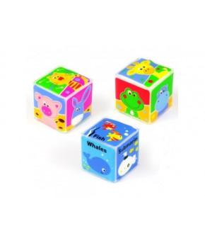 Игрушка для купания Baby mix, пластиковая (кубики для купания)