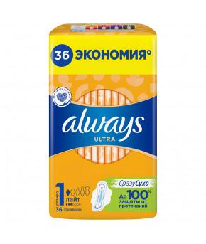 Прокладки женские Always Ultra Light ароматизированные 36шт