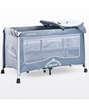 Кровать-манеж Caretero Deluxe, grey