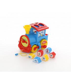 Развивающая игрушка-сортер Полесье Логический паровозик Смурфики №2