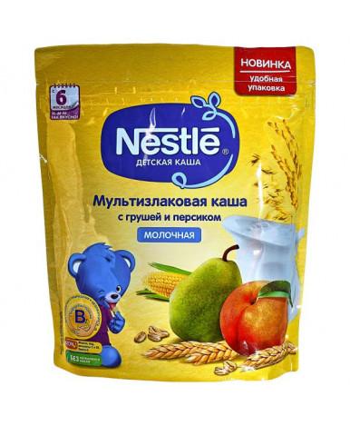 Каша Nestle мультизлаковая груша персик молочная дой-пак 220г