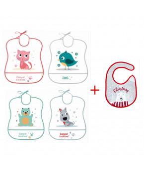 Нагрудник Canpol + рождественский нагрудник на липучке в подарок