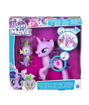 Набор My Little Pony Movie Мерцание Дружеский дуэт Поющая Твайлайт Спаркл и Спайк