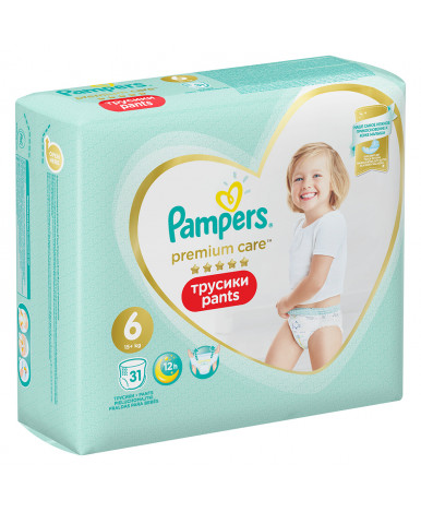 Подгузники-трусики Pampers Premium Care 6 (>15 кг) 31шт
