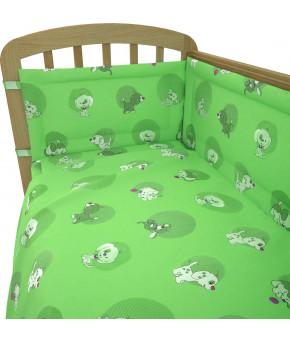 Простынь Фея Наши друзья зеленый на резинке