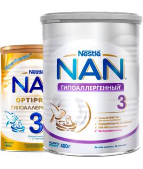 Смесь Nestle NAN 3 гипоаллергенный молочный напиток 400г