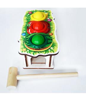 Развивающая игрушка-сортер WoodLand Toys Фрукты, с молотком