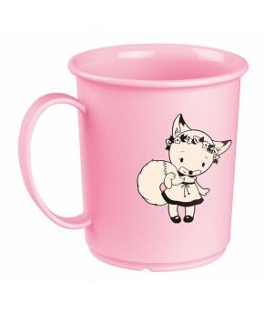 Кружка Пластишка детская с декором розовая 180мл, 12+