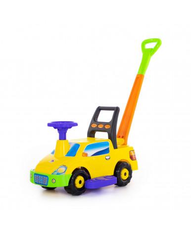 Автомобиль-каталка Polesie Пикап, с ручкой - №2, жёлтый