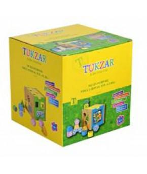 Развивающая игрушка-сортер Tukzar Куб (дерево)