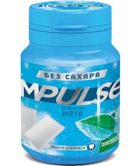 Жевательная резинка Impulse со вкусом мяты 56г