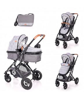 Детская коляска Lorelli Sena Grey Squared