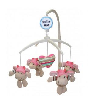 Каруселька BabyMix Валентинка с плюшевыми игрушками