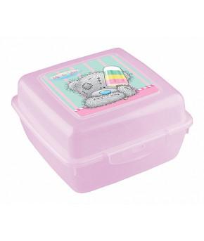 Контейнер Пластишка Me to you для бутербродов с аппликацией (розовый)
