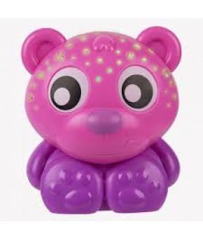 Ночник-проектор PlayGro Медвежонок розовый
