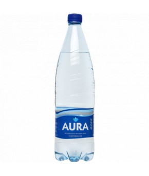 Вода Aura питьевая газированная 1,0л